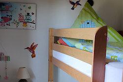Kinderzimmer mit Stockbett - Ferienwohnung Sonneneck